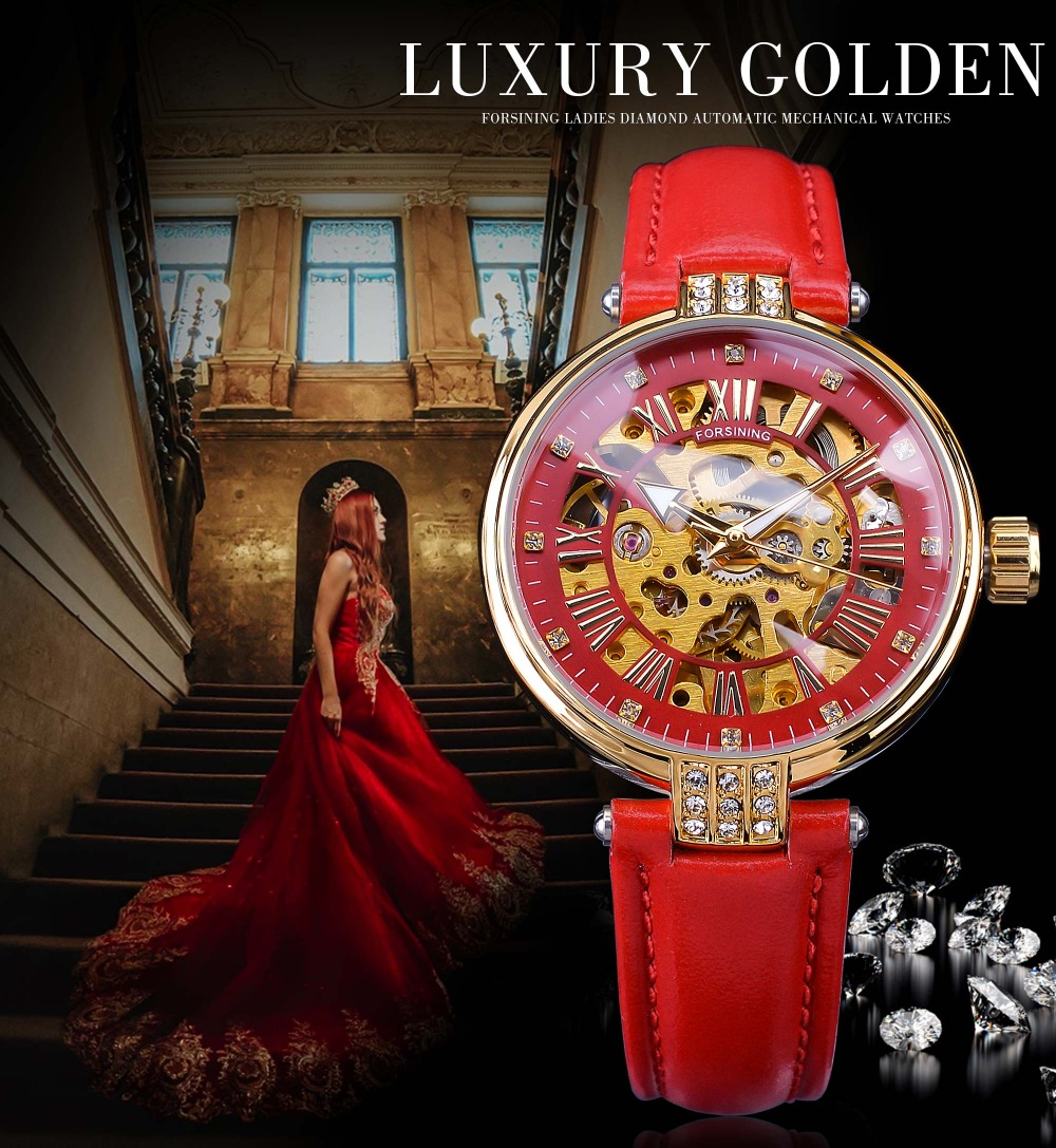 FORSINING FSL8175M3G4 is luxury and hot design for lady watches .